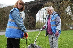 Waterside Neighbourhood Action Group volunteers Alice Mann and her mother Suzanne Mann of Colne