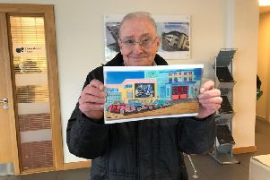 Burnley painter Roy Lockwood has created a piece of artwork marking 60 years since Buddy Holly died in a plane crash in Iowa, USA. (s)