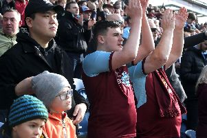 Burnley fans were in a better mood at full time