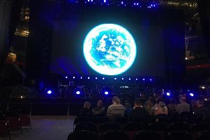 We were almost within touching distance of the stage at the Blue Planet II live in concert tour at the Manchester Arena