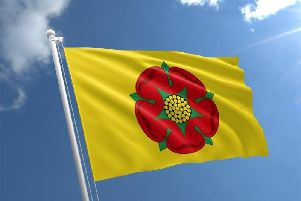 Flying the Lancashire flag over County Hall