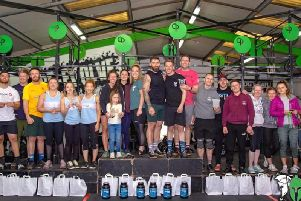 Scaled+ podium winners at CrossFit Pendles Only The Brave competition