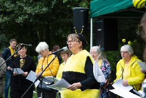 Crowds flocked to Burnley's Ightenhill Park for a Buzzin' Bee Day event.