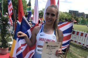 Charlotte wins bronze at world's biggest throws event