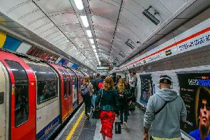The hustle and bustle of the London Underground