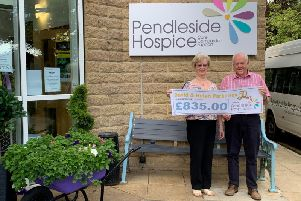 Pendleside Hospice wanted to say a huge thank you to David and Helen for their kind donation.