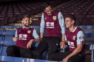 Burnley's new home kit for the 2019/20 Premier League campaign.