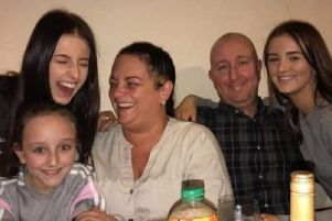 Emmie Preston (top left) with her family (from left) Evie, Sarah, Andrew and Kia.