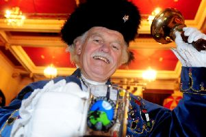 Coun. Tony Beckett during his time as Nelson Town Crier in 2013