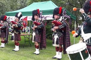 The Accrington Pipe Band played at Ightenhill Festival