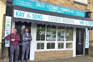 Gary Kay and Micky Woodvine outside the new premises in Todmorden Road.