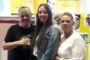 Jodie (centre) with fellow Woman of the Year nominees Susan Loyndes (left) and Sandra Ormerod.