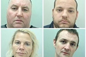 Clockwise: Tommy Smith, Scott Paton, Leonard Perkins, and Mary Smith have been sentenced for their part in a 1 million stolen goods operation (Photos: Lancashire Police)