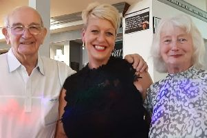 Natter Shack founder Tracey Smith with her parents, Barrie and Muriel Maden, two of the biggest supporters of her scheme that has brought so many people together.