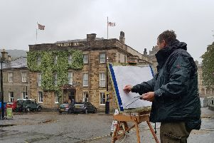 Artists braved the wind and the rain for Buxton's newest competition