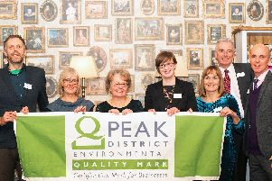 Jason Lock and Jo Holliday, Lockerbrook Farm Outdoor Centre; Kathryn Henderson, Rainbows End Holiday Cottage; Jane Davison, Derbyshire Wildlife Trust; Marian and Martin French, Peak District Holiday Cottage; Councillor Andrew McCloy, PDNPA.