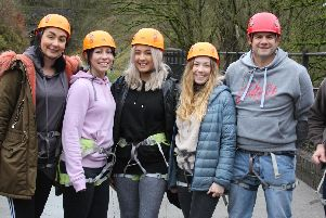 The team of staff from Treetops Hospice Care and Barratt Homes.