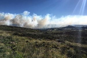 More than 200-square metres of grassland near Ramshaw has been burning overnight, with fire crews working around the clock to tackle the blaze.