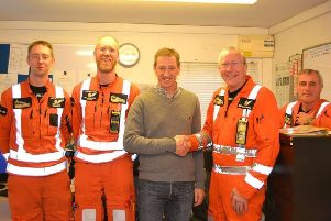 John Wilson has thanked the Derbyshire, Leicestershire and Rutland Air Ambulance crew who saved his life after collapsing on the Eroica bike ride near Bakewell, and is urging the public to show their support for the charity during Air Ambulance week this September.