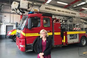 Ruth George MP is campaigning to keep the Aerial Ladder Platform at Buxton Fire Station