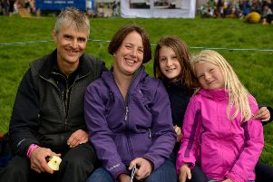 Hayfield Country Show, pictured are James and Sarah Ellson with nieces Lottie Ellson, nine and Mabel Ellson, six