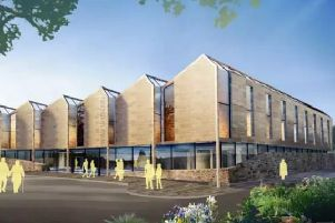 Artist impression of what the new buxton health hub will look like