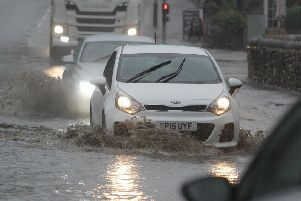 Flooding in Baslow