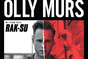 Olly Murs will be joined by Rak-Su on his UK tour next year. Photo: Ruth Andrews
