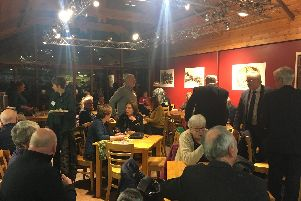 Buxton Civic Association Heritage Hero awards, guests attending the awards evening at Poole's Cavern Visitor Centre.