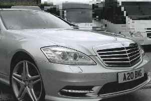 The silver Mercedes S350L AMG Sport which was taken following a break-in on Boxing Day.