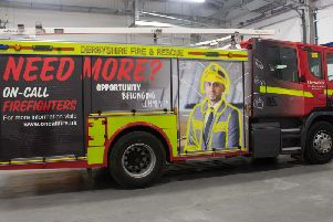 The fire engine with the on-call branding.