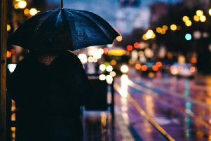 Rain will become heavy at times