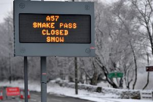 The A57 Snake Pass is currently closed because of snow. Photo - Anthony Devlin/Getty Images