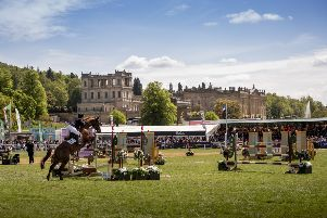 Show jumping at the Chatsworth Horse Trials. Photo by www.shoot360.co.uk