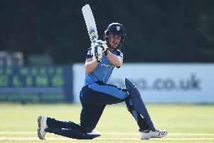 Luis Reece batting against Durham.