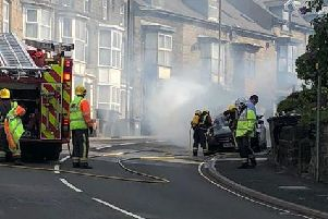 Firefighters at the scene - taken by Ben Jammin.