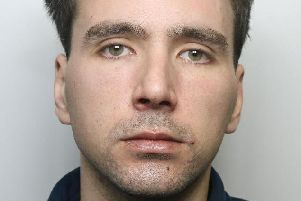 Pictured is Ryan Hughes, 29, of Market Place, Buxton, who has been jailed for seven months after he admitted assaulting his ex-partner.