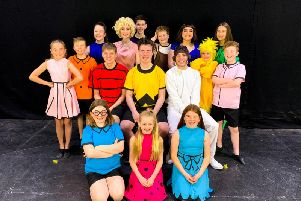 The cast of Youre A Good Man, Charlie Brown.
