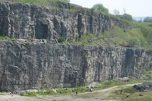 Horseshoe Quarry in Stoney Middleton is a popular spot for climbers.