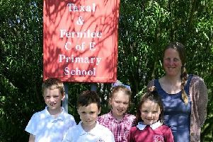 Taxal and Fernilee pupils with project leader, Rachel Cleveland.