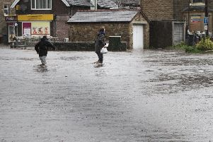 Flooding on Lightwood Road, Buxton