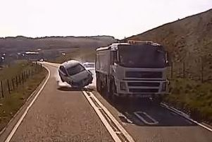 The moment of the crash