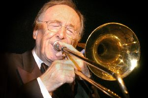 PHOTO: OLAV B. HANSEN'The Big Chris Barber Band'Haderslev Jazzclub, Denmark'Sept. 24. 2004'CHRIS BARBER