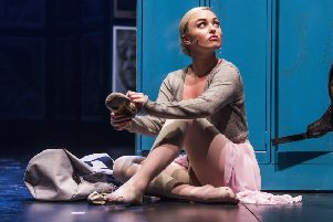 Jorgie Porter in Fame. Photo by Tristram Kenton.