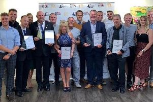 Representatives from Sherwood Colliery Football Club were among the grassroots award winners.