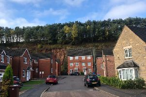 Thirty-five properties on Bank End Close in the Berry Hill Quarry area of Mansfield