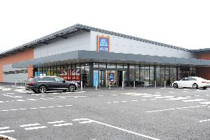 Aldi store on Oakleaf Close, off Southwell Road West, which is opening it's doors to customers last April.