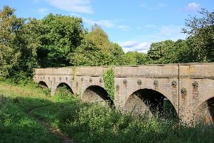 The King's Mill Reservoir viaduct is being restored.