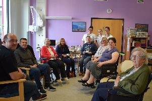 Members of the stroke group meet at King's Mill Hospital.