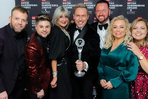 The Mark Leeson salon has won Artistic Team of the Year at the British Hairdressing Awards.